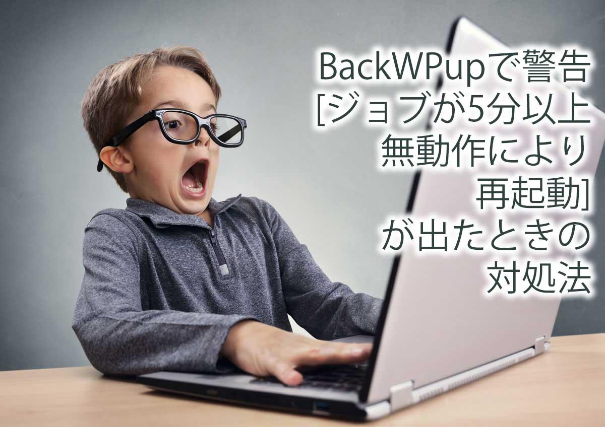 BackWPupで警告[ジョブが5分以上無動作により再起動]が出たときの対処法